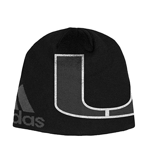 adidas University of Miami Hurricanes Beanie Black Knit Hat