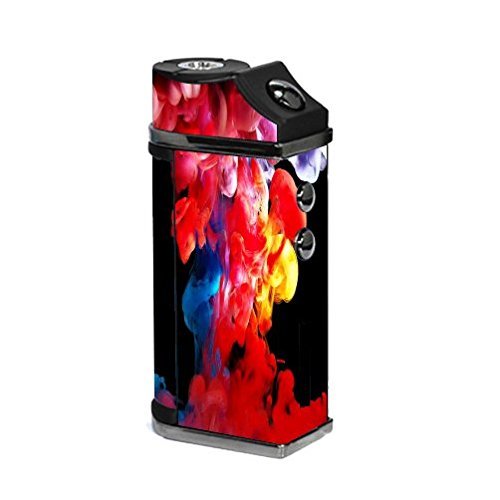 Decal Sticker Skin WRAP - Sigelei UFO 55W TC - Sticker Skin Print Multi Colored Vape Smoke Curling Wisps Fire Printed Design