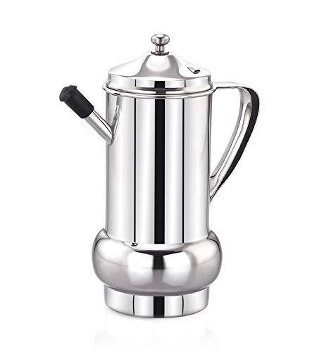 DiBha Steel 1000 ml Cooking Oil Dispenser , White