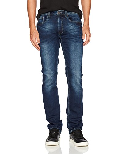 Buffalo David Bitton Men's Ash-x Slim Fit Denim Jean, Indigo, 34x32 ()
