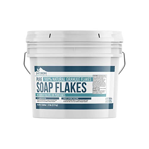 Pure Soap Flakes (1 Gallon (5 lbs)) by Earthborn Elements, Ingredient to Make Liquid or Powdered Homemade Laundry Detergent for Cleaning (Homemade Laundry Soap With Borax And Washing Soda)