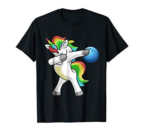 Dabbing Unicorn Bowling T-Shirt Funny Dab Gift Shirt