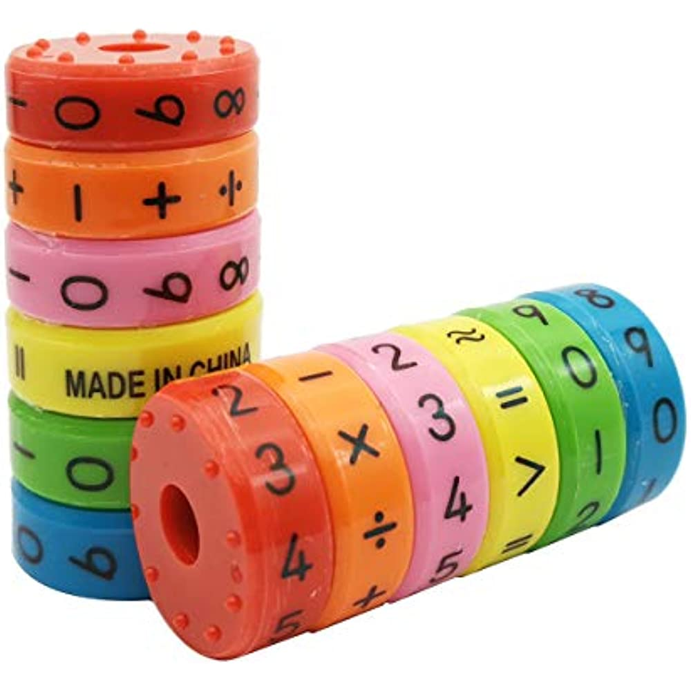 Magnetic Math Toy Numbers And Symbols Skills Colorful ...