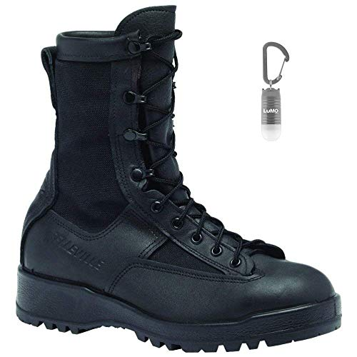 Belleville 700V WP Black Combat Flight Boots Men's Bonus Nebo Light Bundle (2 Items)