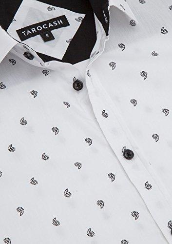 Uscire Camicia Degli Intelligente Occasionwear Forma Cotone Regolare 5xl Stampa Tarocash Uomini Xs Per Manica Taglie Williams Breve Bianca In Paisley L wBqFqSxU8