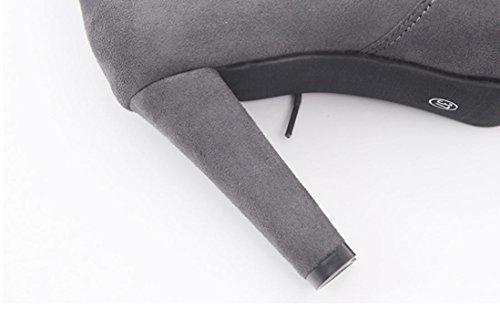 Bottes Daim Bottines Femme Hiver Chaussures Sexy Automne Cuissardes en Overdose qSarq7