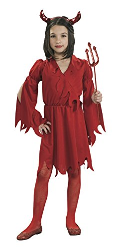 Devil Red Dress Costume (Rubies Devil Girl Child's Costume, Large)