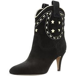 Marc Jacobs Women's Georgia Cowboy Western Boot, Black, 38 EU/8 M US