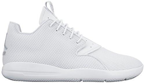 Nike Jordan Eclipse Zapatillas de deporte exterior, Hombre Blanco / Plateado  (White/Metallic Silver-Pr Pltnm)