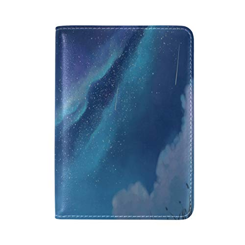 Rh Studio Passport Case Silhouettes Couple Stars Leather Passport Holder Cover Case Travel One Pocket by RH Studio