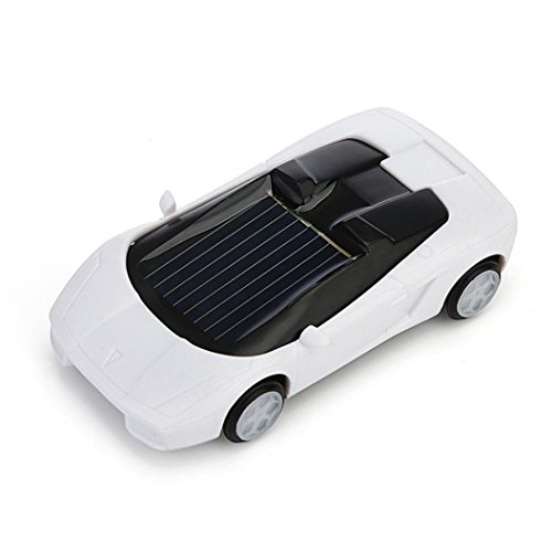 Rc Mesh Wheel - Gbell Solar Powered Mini Racer Car Toy - Solar Energy Vehicle Educational Gadget Gift For Toddlers Kids Baby Boys Girls,7x3x2CM,Assorted Red Black White Yellow (White)