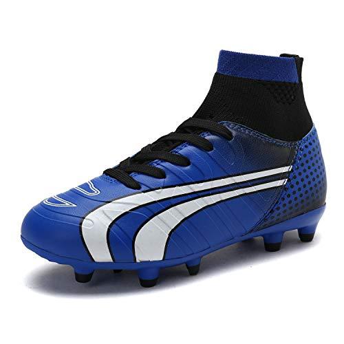 - DREAM PAIRS Little Kid 160862-K Royal Black White Soccer Football Cleats Shoes - 13 M US Little Kid