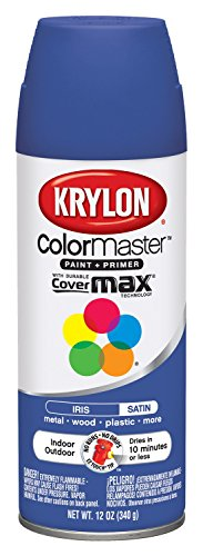 Krylon Colormaster Enamel Spray Paint, Satin Iris, 12 Oz (Spray Paint Krylon Colormaster)