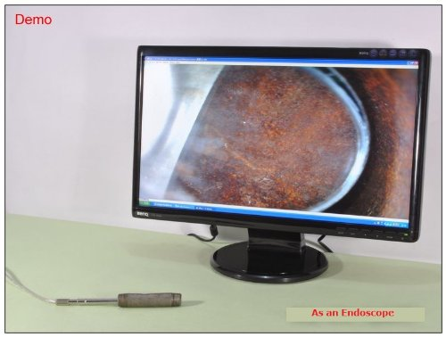 Vividia Short 2.0MP Handheld USB Digital Endoscope//Microscope with 8.2mm Tube Diameter