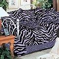 Purple Zebra Daybed Cover Set - (1 Daybed Comforter, 3 Standard Shams, 1 Daybed Bedskirt) - SAVE BIG ON BUNDLING!