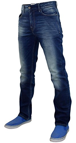 Stretch Piedra Wash Cinco Crosshatch Hombres Slim Bolsillo Stone Vaqueros Fit Hxqx4pfvwP