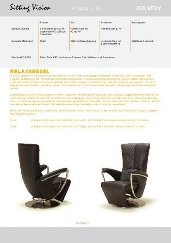 nouveaux styles dcef0 dd2ea Sitting Vision - Fauteuil de relaxation modèle Kennedy du ...