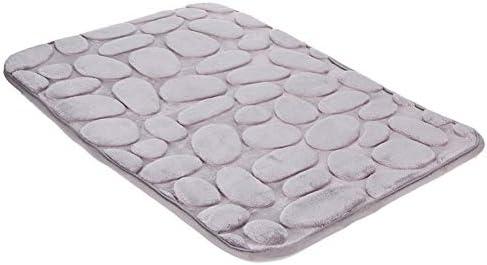 滑り止めバスルームカーペット通気性低反発バスマット速乾性小石ソフトマシンウォッシャブル,50X80cm