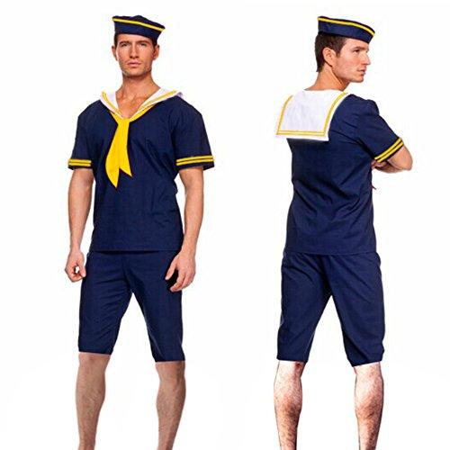 Retro Navy Sailor Adult Mens Costumes (Men sailor costume seaman navy cos seaman dress 3156 (XL))