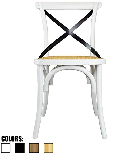 2xhome White Mid Century Modern Farmhouse Antique Cross Back Chair With X Assembled Solid Real Amazon.com -