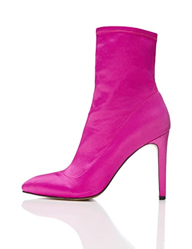 Mona Hot Pink FIND Donna Pink Hot Rosa Stivaletto FUqcTBS