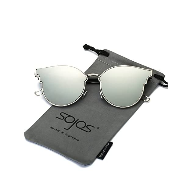 SOJOS-Fashion-Cateye-Sunglasses-for-Women-Oversized-Flat-Mirrored-Lens-SJ1055
