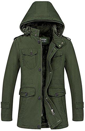 Trench Coats Multi Manteau Hommes Fr Amovible Parka Blazer 5809 Veste Décontractée Outerwear Armée Capuche Long Amovibles Jacket Épaissés Poche Zippée À Extérieures Verte Chaud ZPwF6IxPq