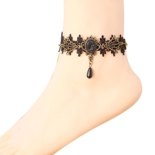 Quick Clean Standard Syringe (Time Pawnshop Retro Gothic Hollow Black Lace Elegant Sexy Lady Anklet)