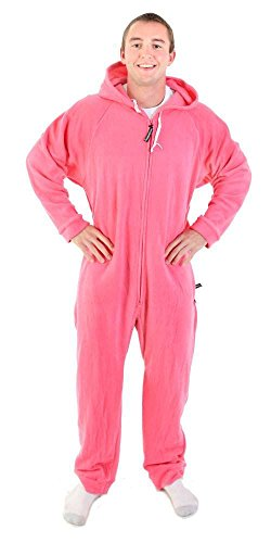 Forever Lazy Unisex non-footed adulto Onesie Rosa fucsia