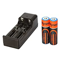 Wyness Two Channels Smart Batteries Charger For Li-ion, IMR, LiFePO4 18650 26650 22650 17670 18490 17500 18350 16340 14500 10440 14430-600 16340-550 Rechargeable Batteries(Include 2x18650 Batteries)