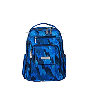 JuJuBe Be Right Back Diaper Backpack | Travel-Friendly, Compact Stylish Backpack Purse, Adjustable Straps, for Kids and Adults | Blue Steel
