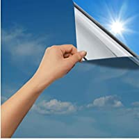Rabbitgoo One Way Window Film Anti UV Static Cling Window Film Removable Decorative Heat Control Privacy Glass Tint for…