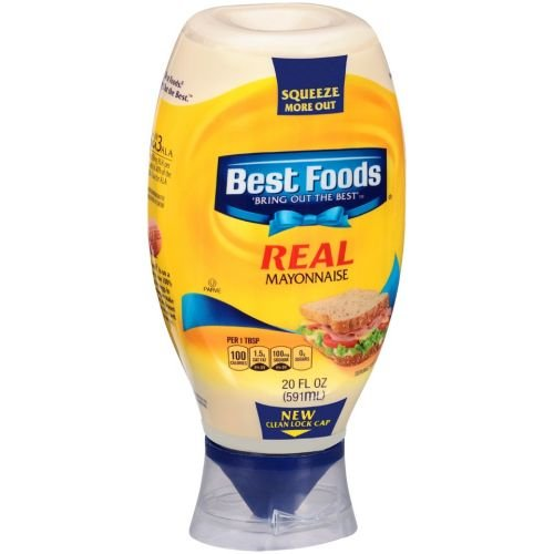 Bestfoods Real Mayonnaise, 20 Fluid Ounce - 12 per case. by Best Foods