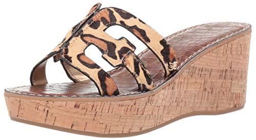 Sam Edelman Women's Regis Heeled Sandal New Nude Leopard 6 M US