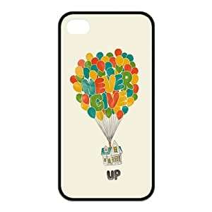the Case Shop- Never Give Up TPU Rubber Hard Back Case Silicone Cover Skin for iPhone 4 and iPhone 4S , i4xq-517