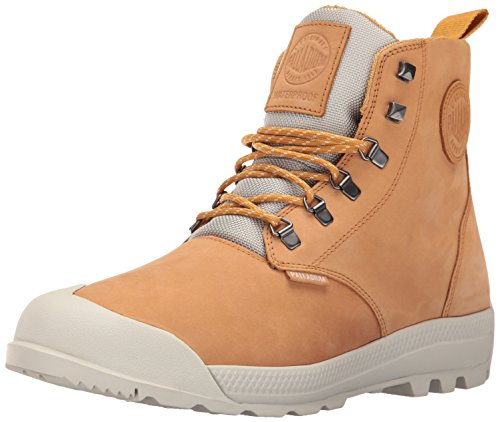 Palladium Men's Pampatech Hi Lea WP Rain Boot, Amber, 12 M US by Palladium