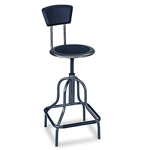 Safco Products 6664 Diesel High Base Stool with Back, Pewter by Safco Products