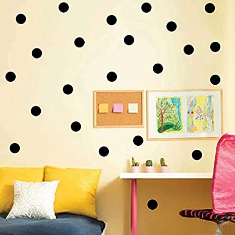 Amazon.com: JEWH Mini Gold Polka dots Wall Sticker DIY Vinyl Interesting Wall Art Nursery dot Decals for Kids Room Home Decor: Home & Kitchen