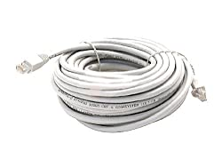 WHITE 100FT CAT6 CAT 6 RJ45 PATCH ETHERNET NETWORK INTERNET CABLE 100' FT