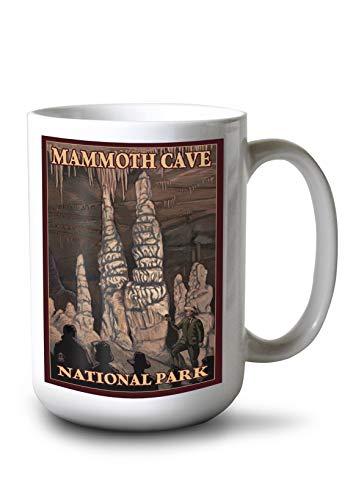 Lantern Press Mammoth Cave National Park, Kentucky - Onyx Pillars (15oz White Ceramic Mug) ()