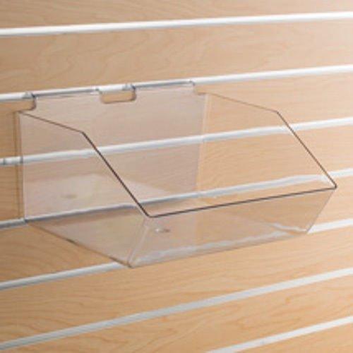Retails Clear Plastic Slatwall Bins 12 in. W x 9 1/2 in. D x 5 1/2 in. H
