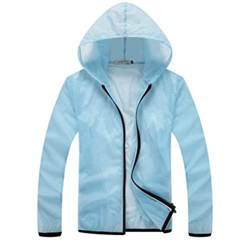 Traspirante A Protezione Men Hellblau Size Skin Asciugatura 2 Nner Casual color Abbigliamento Moderna Giacca M Vento Unisex Uv Rapida Solare 5xwTq76