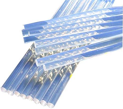 グルースティックの修復ツール、80PCS、DIY、非毒性の透明な11ミリメートルX200mm 7mmx200mmホットメルトスティックのり、高粘度、透明色 (Size : 11x200mm)