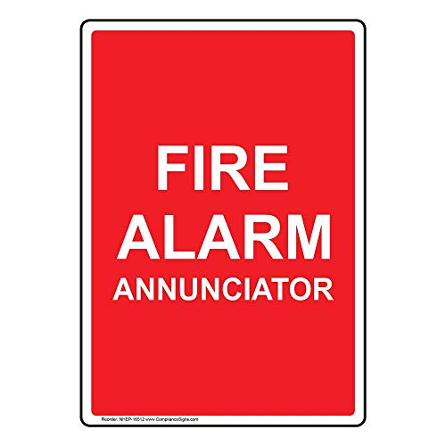Fire Alarm Annunciator Sign, 14x10 inch Glow-in-Dark Aluminum for Fire Safety/Equipment by ComplianceSigns - Fire Alarm Annunciator Panel