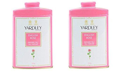 Yardley of London English Rose 7.0 oz Perfumed Talc Powder - Set of 2