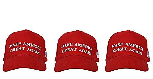 Ezone Make America Great Again Hat [3 Pack], Donald Trump USA MAGA Cap Adjustable Baseball - Flag Cap Confederate Ball