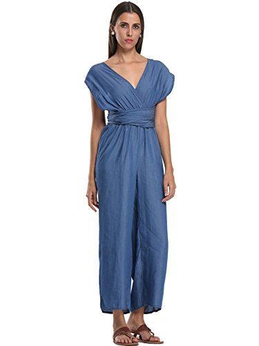Choies Womens Sleeveless Pocket Jumpsuit