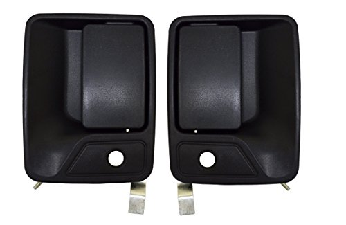 Super Duty Front Door Handle - PT Auto Warehouse FO-3523A-FP - Outside Exterior Outer Door Handle, Textured Black - Front Left/Right Pair