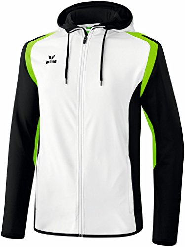 Erima Razor chaqueta para mujer 2.0 con capucha Blanco - Weiß/Schwarz/Green Gecko