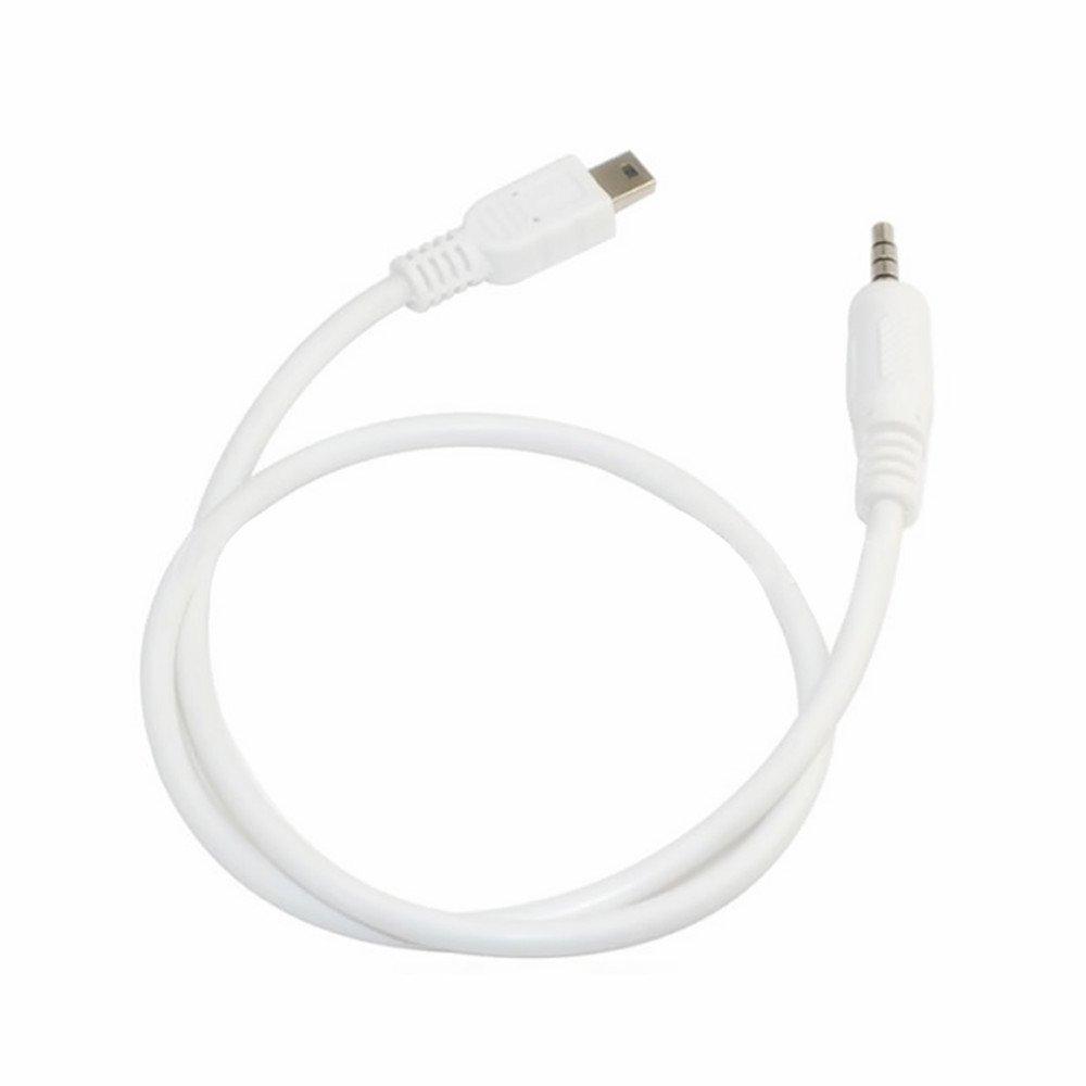 Amazon.com: SuperWhole 3.5mm Stereo Plug to Mini USB Male M/M Adapter  Converter Audio Cable White 50cm : Home Audio & Theater